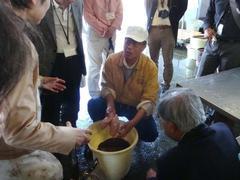 フグ卵巣の糠漬加工場